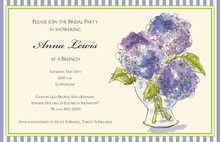 Classic Watercolor Hydrangeas Wedding Invitations
