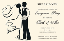 Silhouette Couple Dancing Invitations