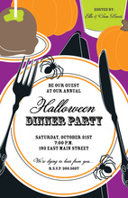 Halloween Placesetting Invitation