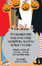 Candy Kids Halloween Invitations