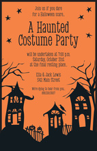 Spooky Street Halloween Invitations