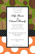 Decorated Brown Leaf Mix Invitations