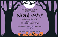 Night Spooks Halloween Invitation