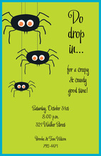 Spider Trio Halloween Invitations