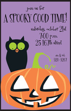 Hoots Spooks Halloween Invitations