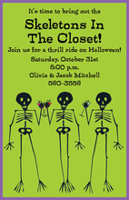 Skeleton Party Invitation