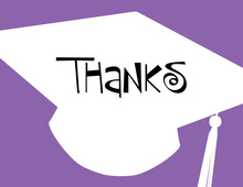Charming Silhouettes Graduation Thank You Cards