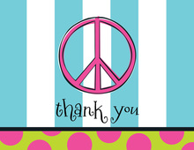 Peace Stripe Thank You Cards