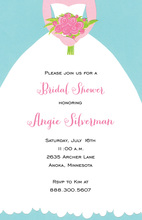 Girl In White Bridal Invitations