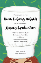Large White Chef Hat Invitations