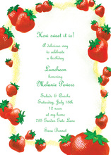 Decorated Strawberry Season Invitation