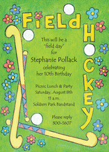 Field Hockey And Sticks Invitation