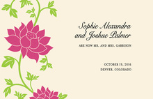Flower Climbing Invitation
