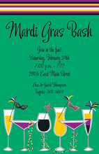 Mardi Gras Sips Invitation