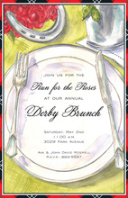 Derby Placesetting Invitations