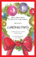 Adorned Bauble Wreath Invitations