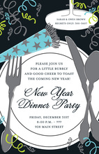 New Year Placesetting Invitation