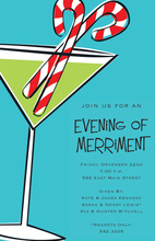 Minty Martini Drink Invitations