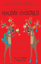 Deer Friends Holiday Party Invitation