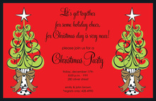 Holiday Topiary Glitz Invitation
