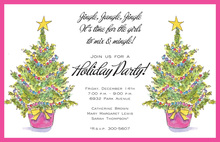 Topiary Joy Christmas Tree Invitations