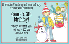 Snow Kids Invitation