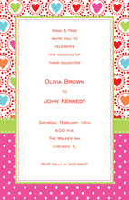 Splendid Love Circles Border Invitation