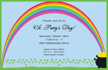 Eye-catching Rainbow Style Invitation