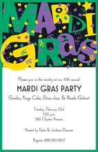 Party Mardi Gras Confetti Invitation