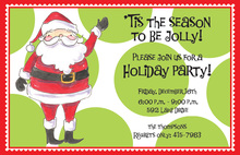Jolly Santa Christmas Invitations