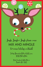 Facing Deer Cheer Holiday Invitations