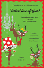 Fun Drink Deer Party Invitations