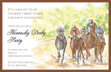 Derby Day Watercolor Invitations