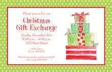 Assorted Christmas Presents Invitation