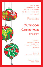 Holiday Lanterns Invitation