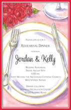 Red Roses Placesetting Invitations