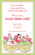 Holiday Snowman Cupcakes Invitation