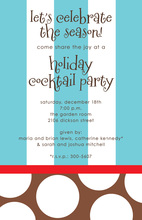 Frosty Stripe Invitations