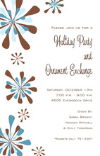 Modern Abstract Holiday Winterfest Invitations