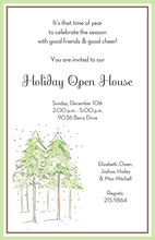 Merry Pine Tree Forest Invitations