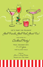 Jolly Holiday Cocktails Invitation
