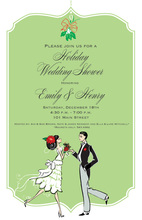 Holiday Dancing Couple Shower Invitations