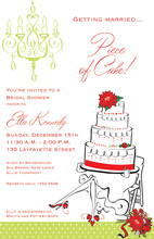 Holiday Festive Legs Bride Invitations