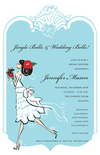 Holiday Merry Bride Bridal Shower Invitations