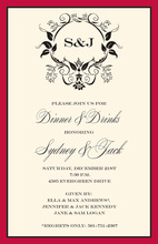 Formal Regal Monogram Invitations