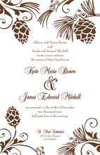 Woodland Pine Cones Invitation