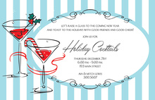 Retro Sips Holiday Invitations