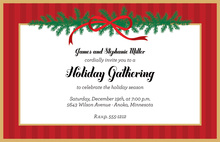 Elegant Christmas Bough Invitations