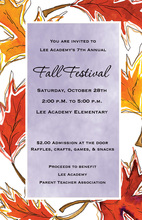 Glorious Lavender Fall Leaves Invitation