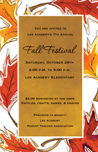 Superb Orange Fall Leaves Invitation